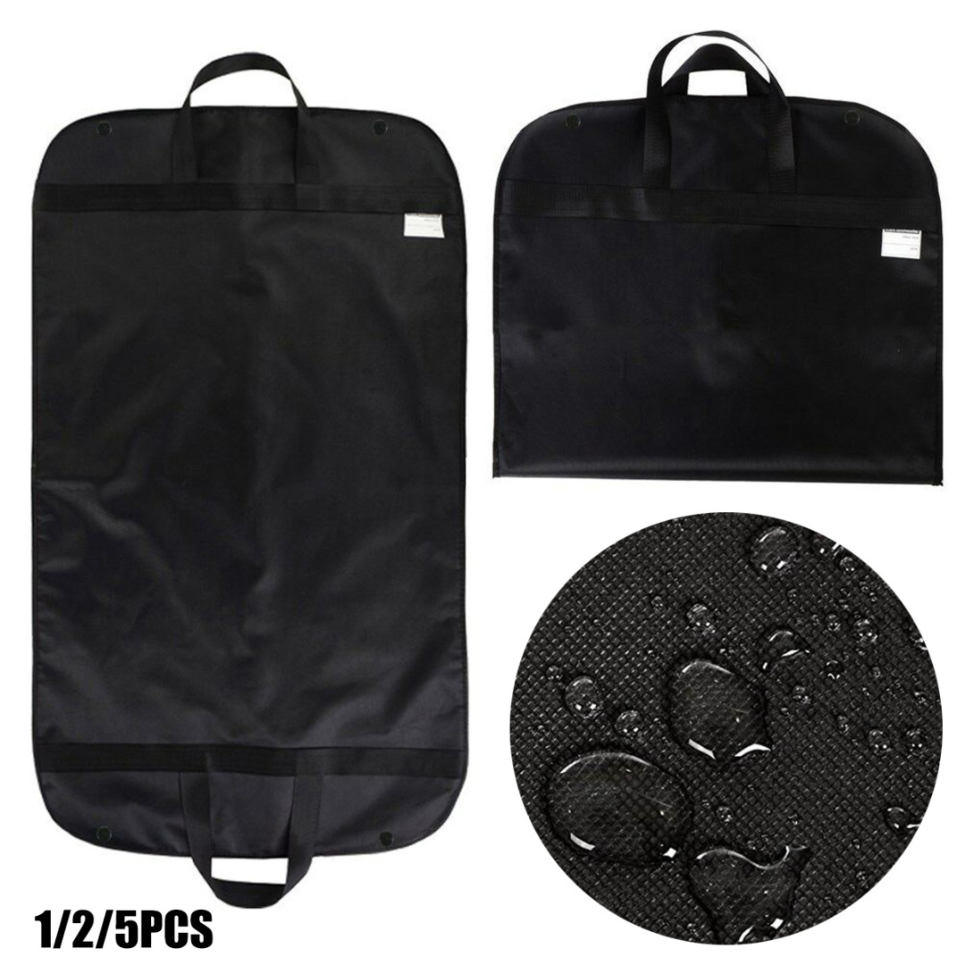 Black Suit Garment Bag Cover Non Woven Waterproof Fabrics Dress Storage Garment Bag Wedding Travel Clothes Dust Covers Protector