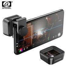 Анаморфный объектив APEXEL Pro, экран 1,33x, широкоэкранный видео, зеркальный фотоаппарат, фотообъектив для смартфонов iPhone, Huawei, Samsung