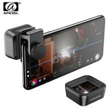 APEXEL Pro Anamorphic Lens 1.33x Wide Screen Video Breedbeeld Slr Film Mobiele Telefoon Lens voor iPhone Huawei Samsung smartphones