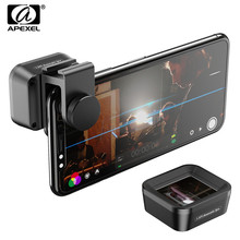 Lentes anamórfica apexel pro, 1,33x tela larga filme widescreen slr para smartphones iphone huawei e samsung