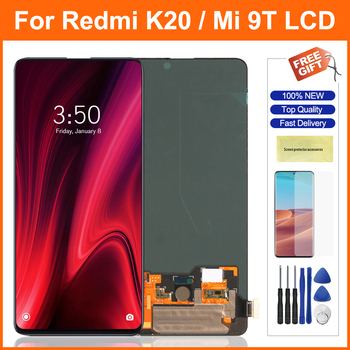 Super Amoled K20 Pro Screen For Redmi K20 K20Pro LCD Display Touch Screen Digitizer Assesmbly Parts For Xiaomi 9T 9TPro Display недорого