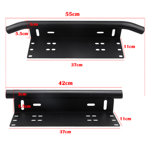 Offroad Front Rear Bumper License Plate Holder for Car Number Plate Frame Led Light Bar Working Lights Mount Brackets