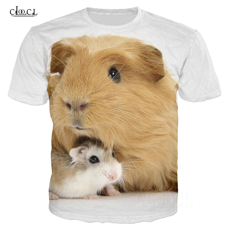 Pet Roborovski Hamster T-Shirt Men/Women 3D Print Animal Mouse T Shirt Casual White Summer Harajuku Streetwear Pullover Tees Top