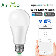 10pcs Smart WIFI Intelligent Lamp 15W E27/B22 Wireless APP Control LED Smart Light Bulb Alexa Google Assistant Magic Home Light