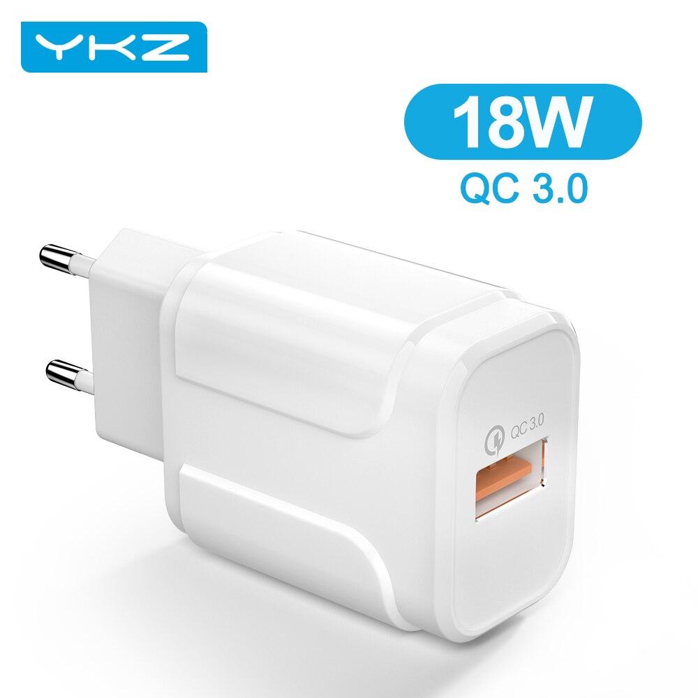 YKZ 18 Вт USB зарядное устройство QC 3,0 Быстрая зарядка 3,0 4,0 портативный дорожный мини мобильный телефон зарядное устройство для iPhone Samsung Xiaomi быст...