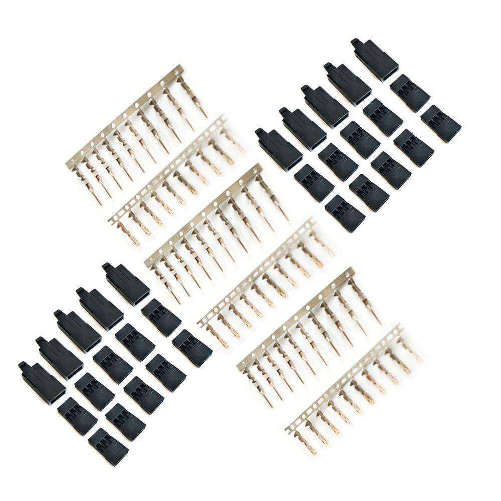 10 Sets DIY 3 Pin Servo Extension Plug Female And Male Connector Clips For JR Futaba Type RC Airplane Multirotor Quadcopter