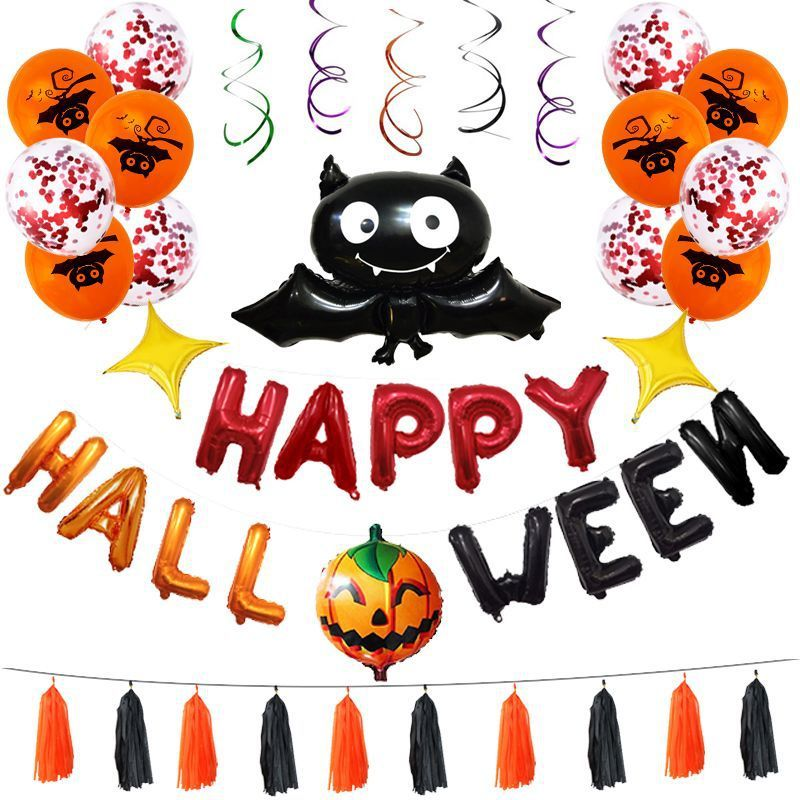 anniversaire <font><b>cumplea</b></font>ñ<font><b>os</b></font> decoracion helium balloon Halloween Balloon Set Festival Party balloons birthday party decorations kids image