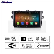 Liislee Auto Radio GPS Audio Video Multimedia-Player WiIFi DVR Navigation Android System Keine CD DVD Für Toyota corolla 2009 ~ 2013(China)