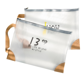 Transparent TPU A4 File Bag Student Stationery Storage Information Waterproof Pencil Office School Supplies