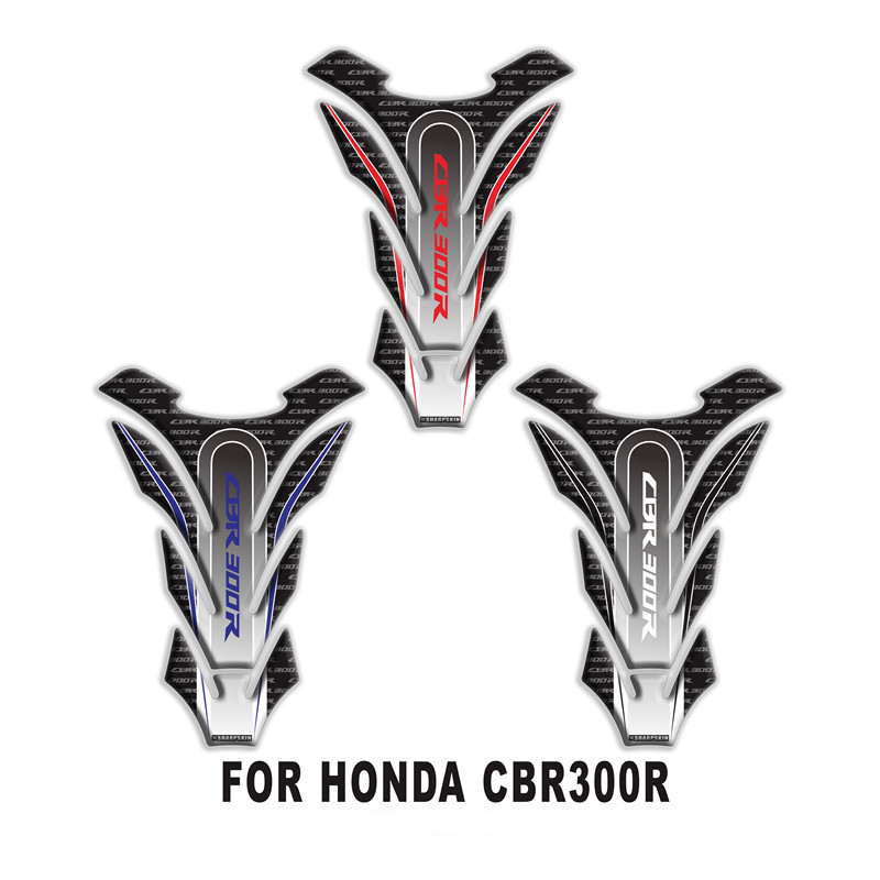 MTKRACING 3D Fishbone <font><b>Sticker</b></font> Fuel Tank Pad <font><b>Sticker</b></font> Protection Decoration <font><b>Sticker</b></font> FOR honda <font><b>CBR300R</b></font> image