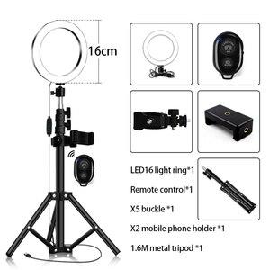 Image 2 - Chân Máy Chụp Hình Selfie Kèm Vòng Lấp Đầy Ánh Sáng Mờ Vòng Đèn Led Studio Camera Vòng Ánh Sáng Điện Thoại Hình Video Đèn