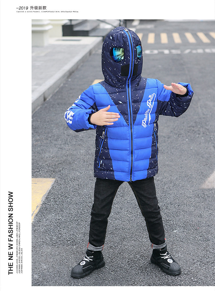 Ha36228fb3b844cd89aaed834ae5ddabcT - Winter Warm Kids Boys Jackets With Glasses For Children Waterproof Cotton-Padded Parkas with Glasses Teenage Hoodies Coat