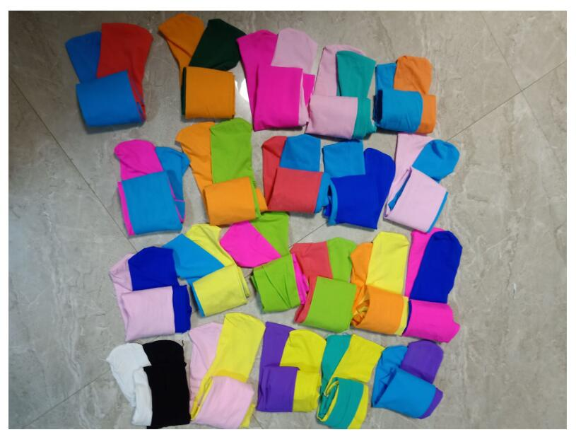 New Spring Summer Patchwork Girls Tights Velvet Pantyhose Baby Dancing Tights Mix Color Stockings For Girls Age 3-12T 4