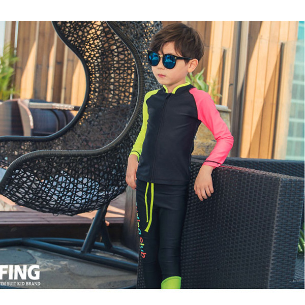 KID'S Swimwear Medium-small Boy BOY'S Diving Suit Split Type Long Sleeve Trousers New Style Sand-proof Water Extractor Warm Tour