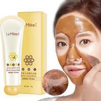 Honig reißen maske Peel Maske öl steuer Mitesser Entferner Peel Off Dead Haut Sauber Poren Schrumpfen Gesichts pflege gesicht Hautpflege maske