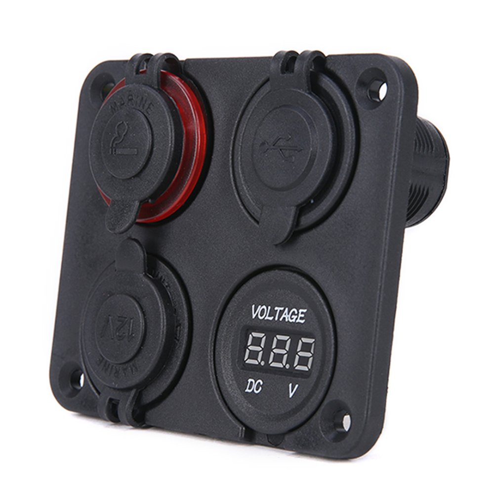 New <font><b>12V</b></font> <font><b>Car</b></font> Dual <font><b>Cigarette</b></font> Lighter Socket Vehicle Mobile Phone <font><b>Charger</b></font> <font><b>Car</b></font> Smoke Detector Voltmeter Digital Display image