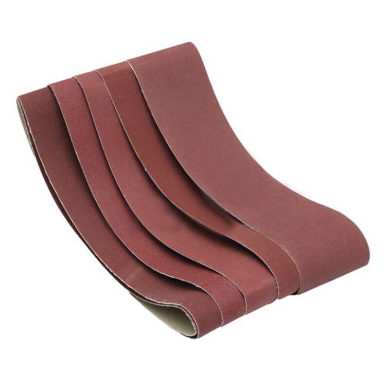 6pcs Set 915*100mm 60/80/100/120/150/180 Grits Abrasive Polishing Sanding Belts