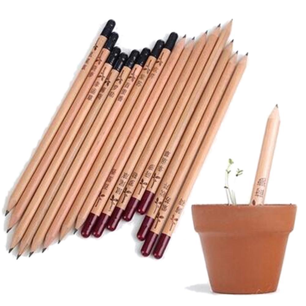 8PCS Exotic Sprouts Pencil Mini DIY Desktop Planted Pencils Idea Germination Pencil Contains Different Seeds Outdoor Supplies