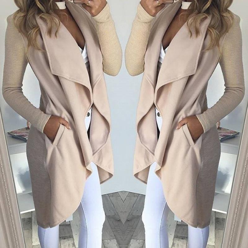 Women   trench   coat Autumn Winter New Wild Slim Long Knitwear Cardigan Women Clothes Sweater Coat Long Sleeve Coat Windbreaker