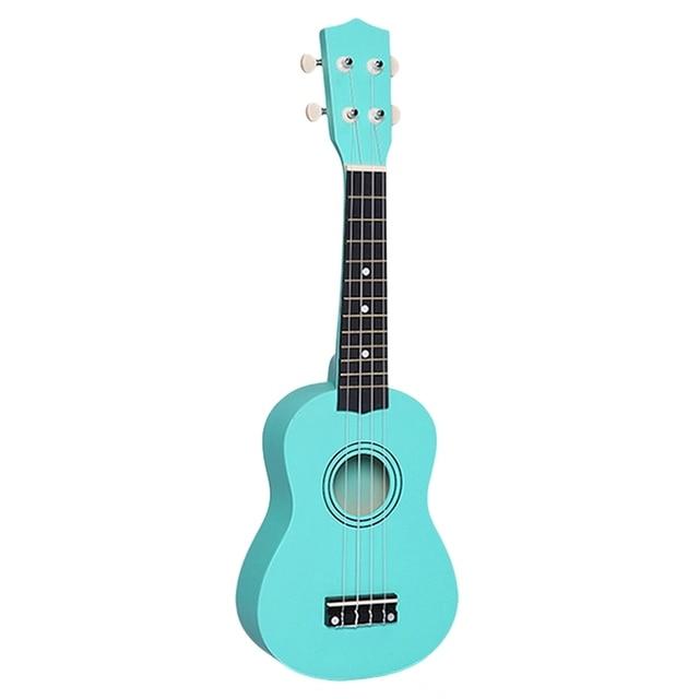 21 дюймов маленький акустический сопрано Гавайские гитары укулеле красочные липа укулеле для начинающих гитары обучаемый зеленый дешевый У...