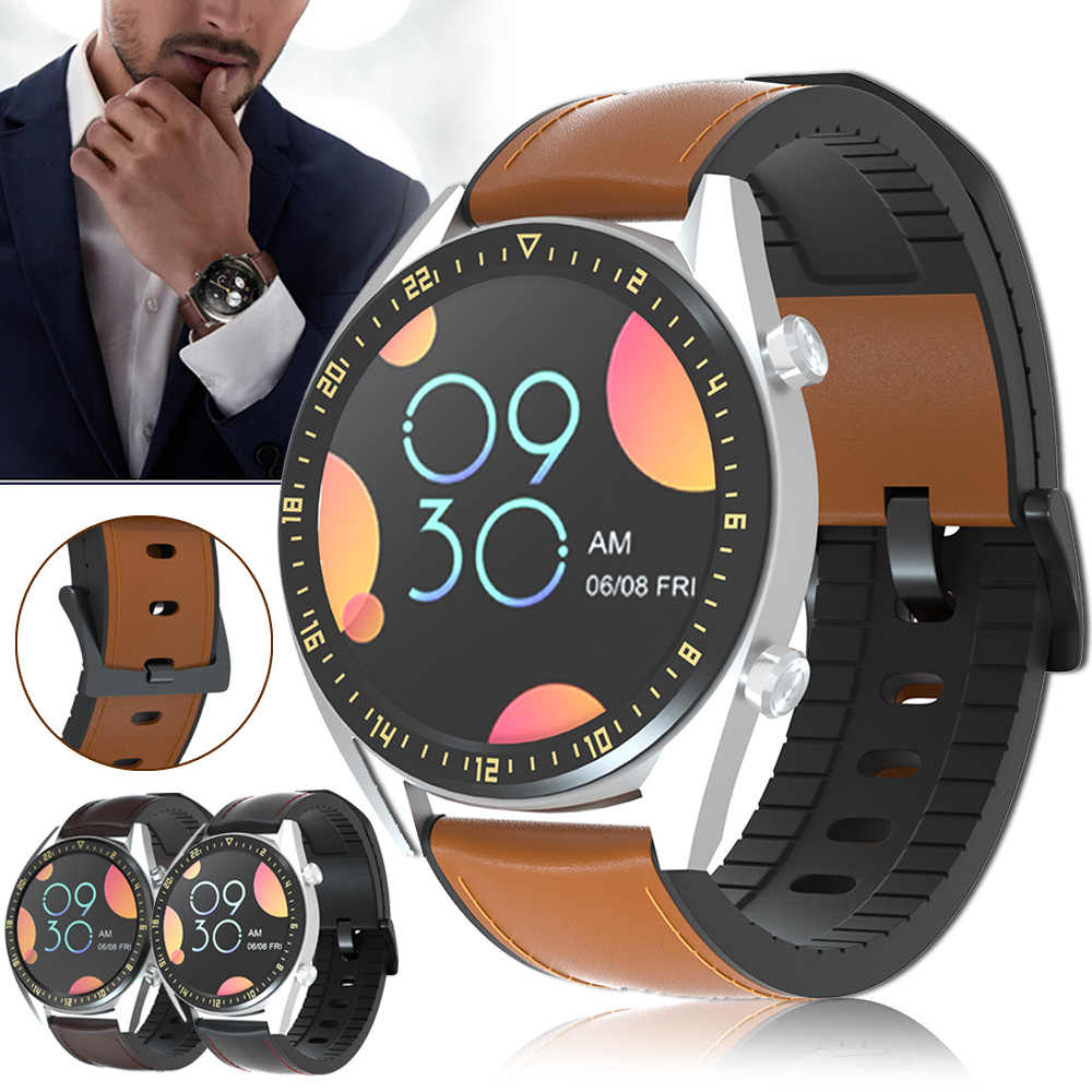 22 Mm Watch Tali untuk Huawei Watch GT2 GT 2 Kulit Asli Band Silikon Gelang Watchband Kehormatan Menonton Magic Ремешок