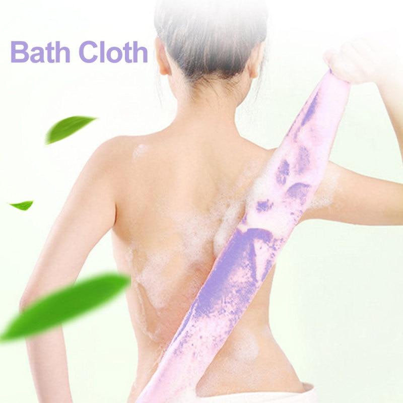 1pc Stretchable Body Clean Exfoliating Neck Back Scrubber Shower Bath Cloth Tool Washcloth 4