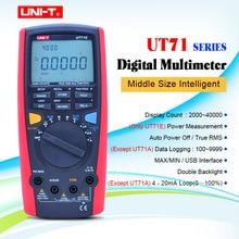 UNI-T UT71A UT71B UT71C UT71D UT71E цифровой мультиметер RMS AC DC метр Вольт Ампер Ом Емкость Temp Тестер Подсветка