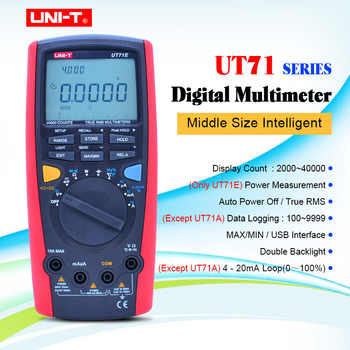UNI-T UT71A UT71B UT71C UT71D UT71E Digital MultiMeterTure RMS AC DC meter Volt Ampere Ohm Capacitance Temp tester backlight - DISCOUNT ITEM  32% OFF Tools