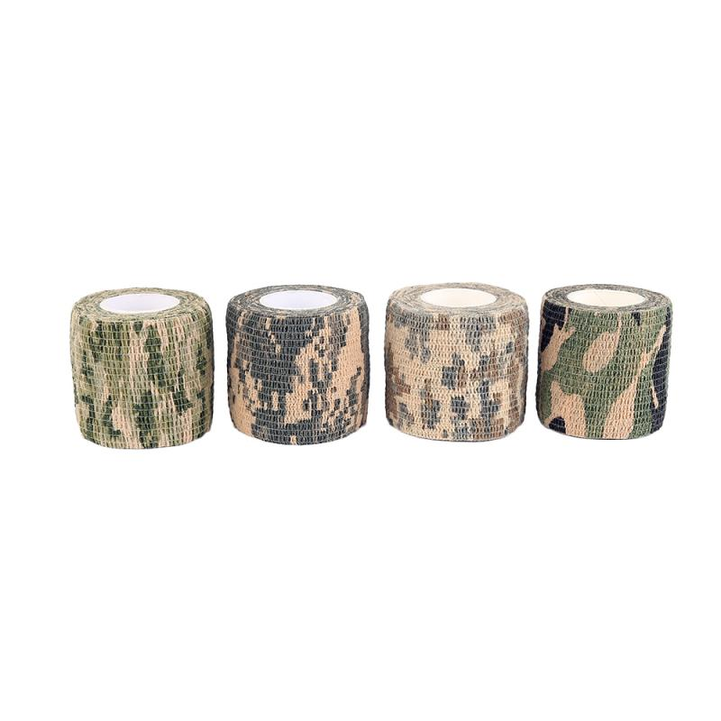 4.5m Camouflage Outdoor Hunting Shooting Camo Stealth Duct Tape Waterproof Camping Stickers Outdoor Gadgets Home Improvement 4