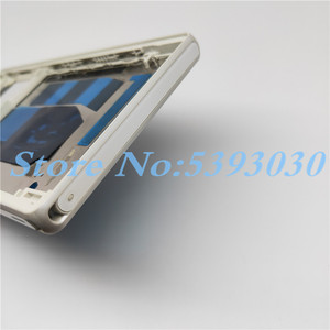 Image 5 - New Original For Sony Xperia Z L36H LT36 C6603 C6602 Front Middle Chassis Housing frame+ plug cover Replacement