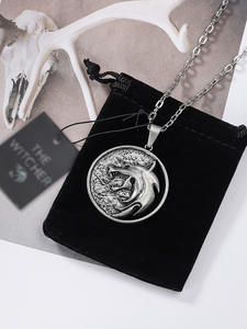 Necklace Pendants Wolf Witcher Medallion Fashion Jewelry Men Gift Party Long 3