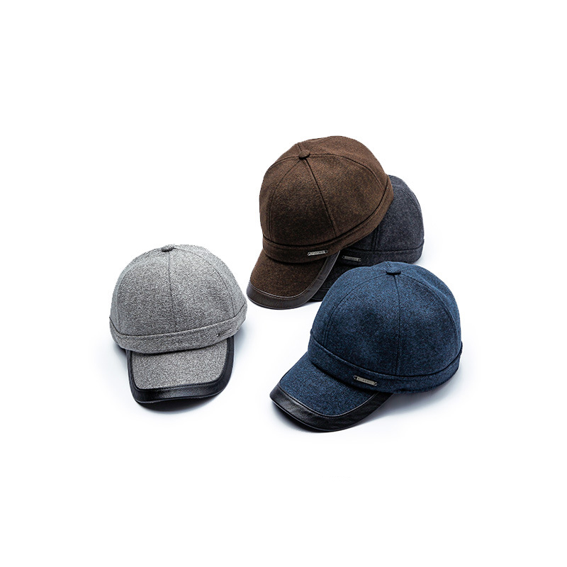 Yang Guan Autumn & Winter New Style MEN'S Hat Middle-aged Earmuff Warm Baseball Cap Outdoor Sports Casual Brim Hat