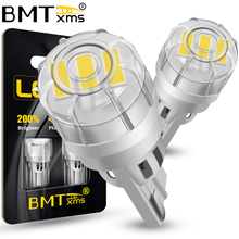BMTxms 2Pcs Canbus T10 W5W 168 New Super Bright Car Parking Light WY5W Wedge Turn Side Bulb Auto Interior Reading Dome Lamp
