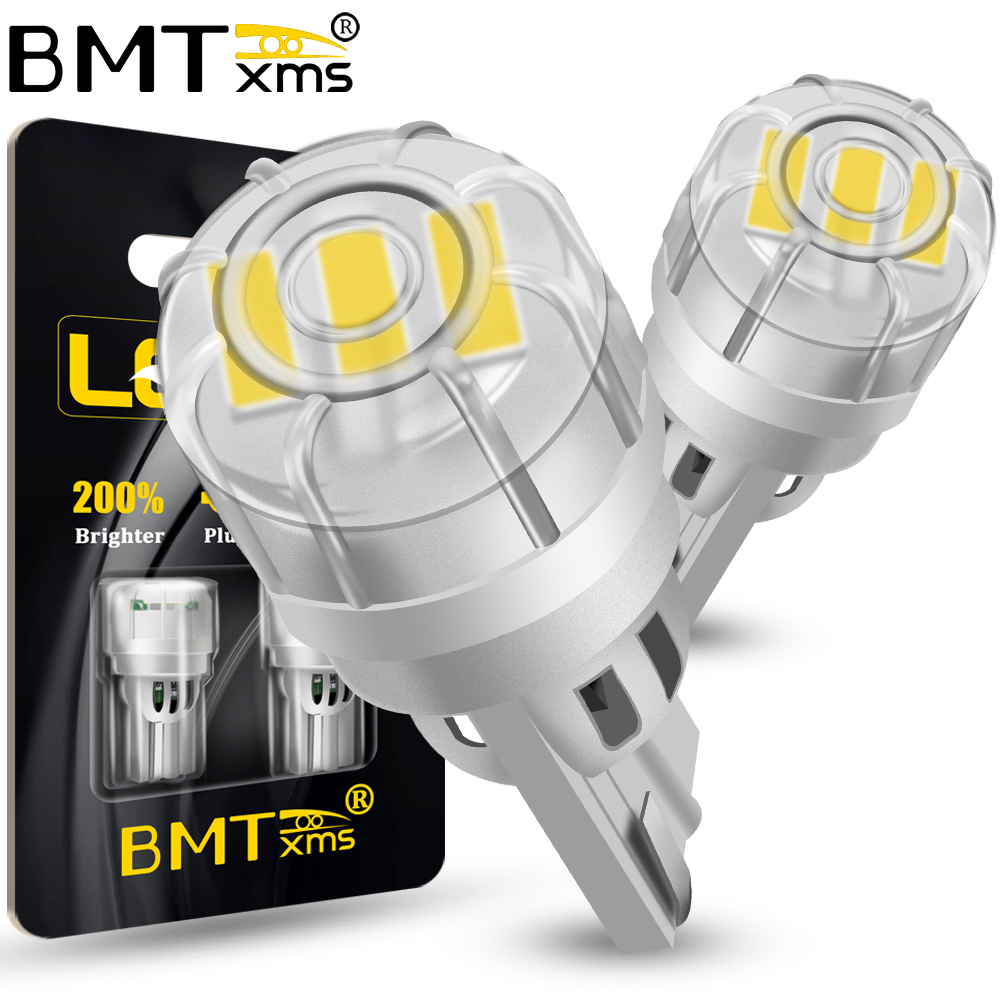 BMTxms-luz de aparcamiento de coche Canbus T10 W5W, luz de aparcamiento de coche superbrillante, WY5W, Bombilla lateral de giro, lámpara de lectura de cúpula Interior automática, 2 uds.