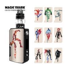 Magic Shark Marvel DC Avengers Batman Super Man Hulk Iron Spider Vape Case Sticker Skin for Voopoo Drag 2