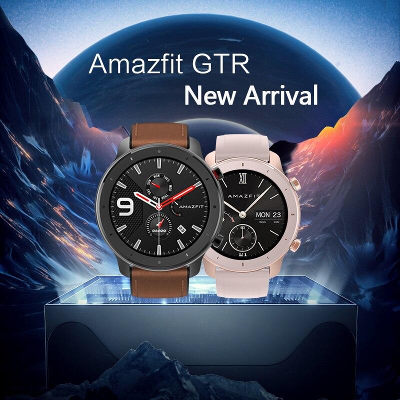 Globale Version Amazfit GTR Smart Uhr 42mm 5ATM 24 Tage Batterie GPS & GLONASS Smart Uhr Frauen Uhr Männer-in Smart Watches aus Verbraucherelektronik bei  Gruppe 1