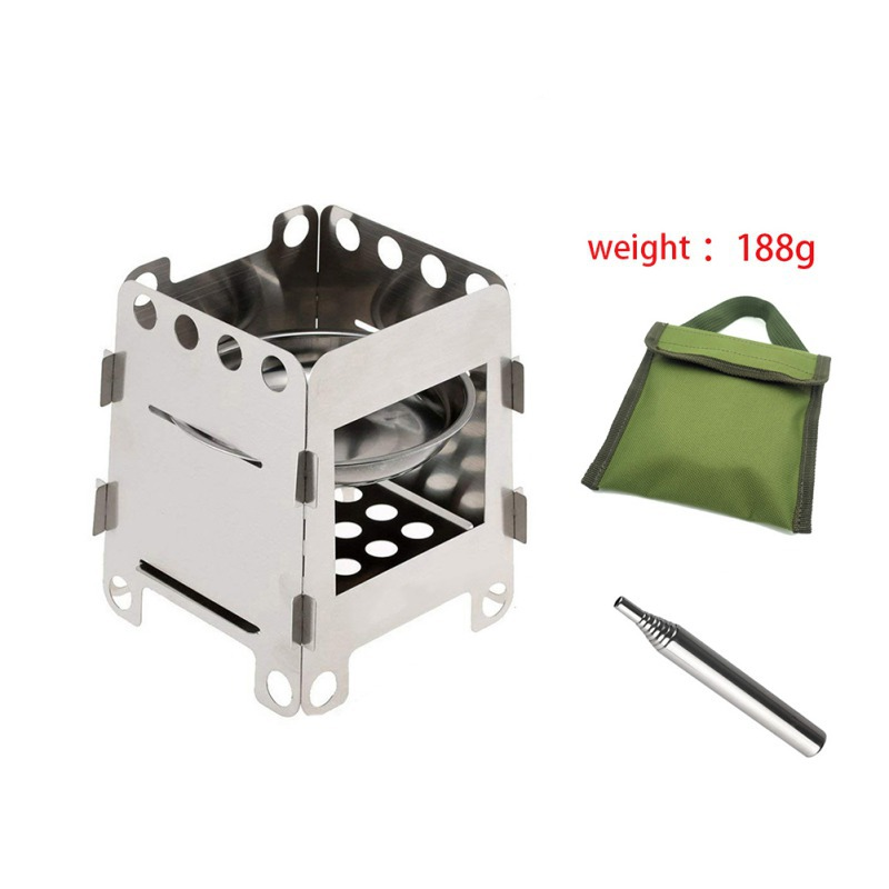 Portable Wood Burning Outdoor Camping Stove Lightweight Backpacking Stove Outdoor Household Cooking Camping Cooker Burners image