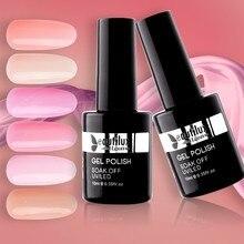 1 шт. УФ светодиодный прозрачный розовый телесный камуфляж молочный Бонд основа для наращивания ногтей Многофункциональный Гель-лак для ногтей 10 мл