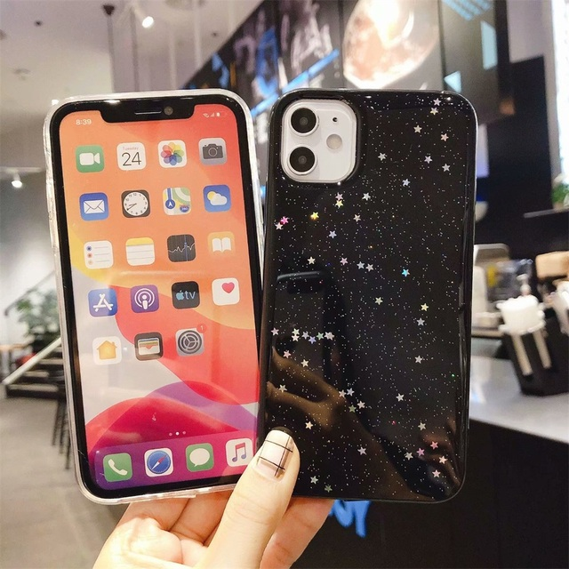 Sparkle Star Cases For iPhone 11 11pro Max Soft Silicone Protection Phone Case For iPhone 6 6S 7 8 Plus X XR XS MAX Cover Fundas