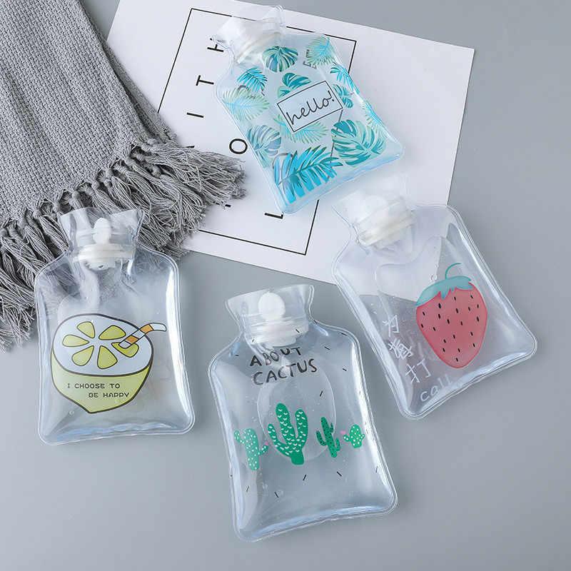 Cartoon mehrweg eis pack Nette Mini Transparent Heißer Wasser Flaschen Kleine Tragbare Hand Wärmer Wasser kühlung kalt kühles eis tasche