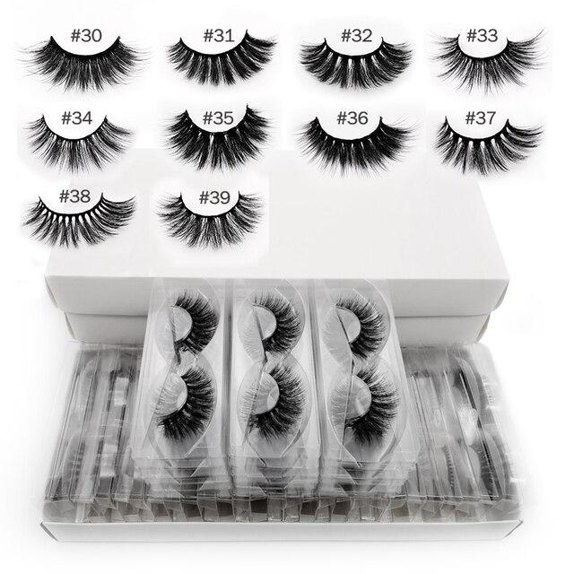 Wholesale mink eyelashes 10/20/30/50/100 pairs 3d mink lashes eyelash extension natural false eyelashes makeup fake lashes bulk 1
