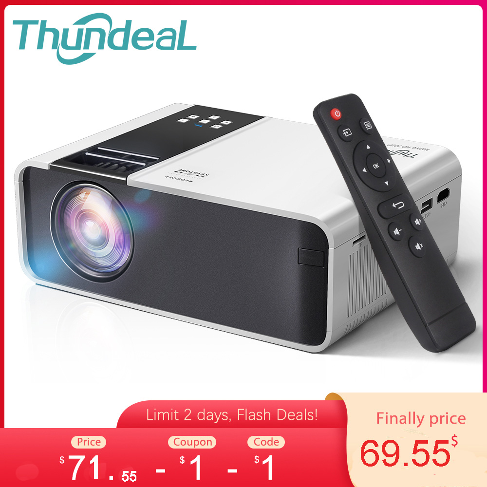 ThundeaL HD Mini Projector TD90 Native 1280 x 720P LED Android WiFi Projector Video Home Cinema 3D HDMI Movie Game Proyector|LCD Projectors| - AliExpress