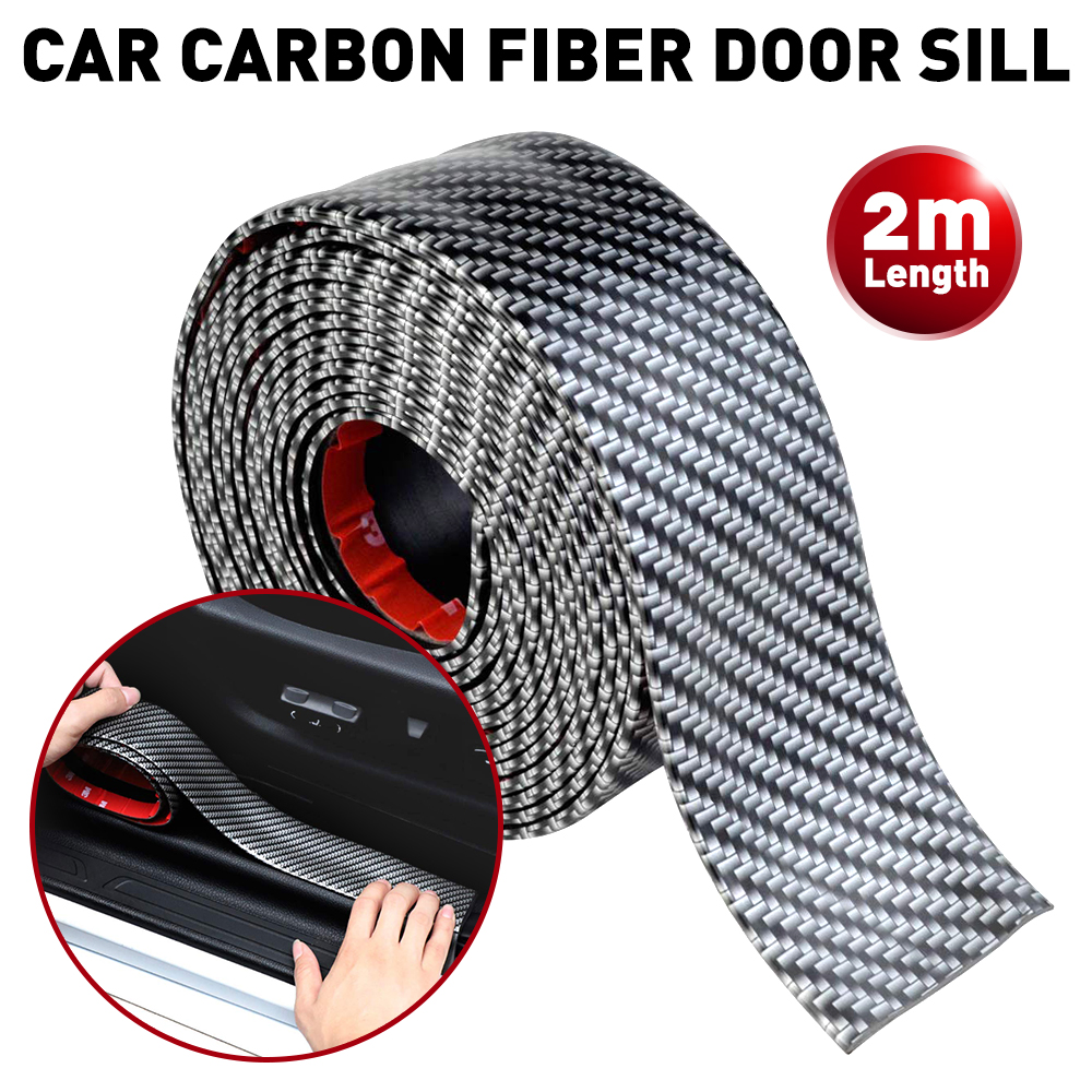 2M Carbon Fiber Car Scuff Plate Door Sill Cover Panel Step Protector Guard <font><b>sticker</b></font> For <font><b>BMW</b></font> E46 E90 E60 E39 E36 F30 F10 <font><b>F20</b></font> F25 image
