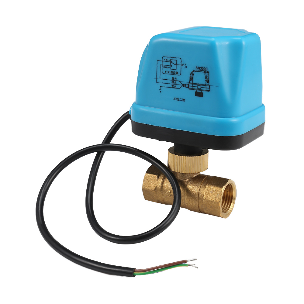 220V <font><b>12V</b></font> Electric <font><b>Motorized</b></font> Thread <font><b>Ball</b></font> <font><b>Valve</b></font> Air-conditioning Water System Controller 2-way 3-wire 1.6Mpa DN15 DN20 DN25 image