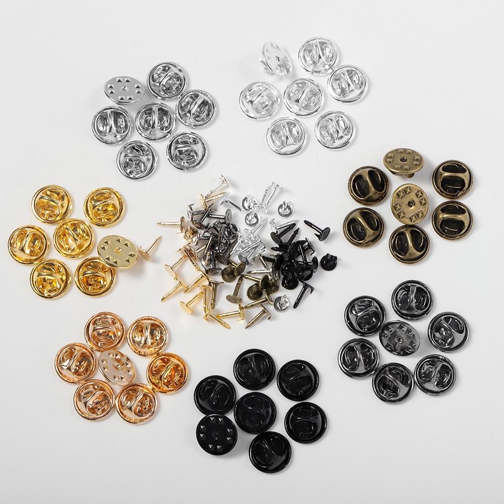 50 шт./лот, металлическая брошь на булавке, на застежке, на застежке, для ногтей, на застежке, для изготовления ювелирных изделий, аксессуары д...