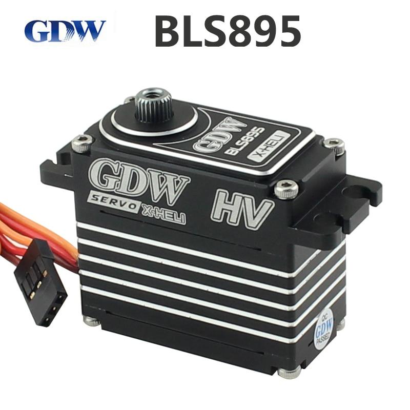 GDW BLS895 бесщеточный Стандартный рулевой механизм 550-700 цельнометаллический узкополосный вертолет Блокировка хвостового руля