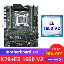 Xeon E5 1650 V2 LGA 2011 지원 Kllisre X79 마더 보드 세트 DDR3 ECC REG 메모리 ATX USB3.0 SATA3 PCI E NVME M.2 SSD