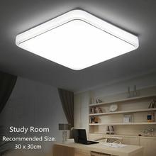 Светодиодный потолочный светильник квадратное покрывало современный дизайн для спальни кухни гостиной TSH Shop