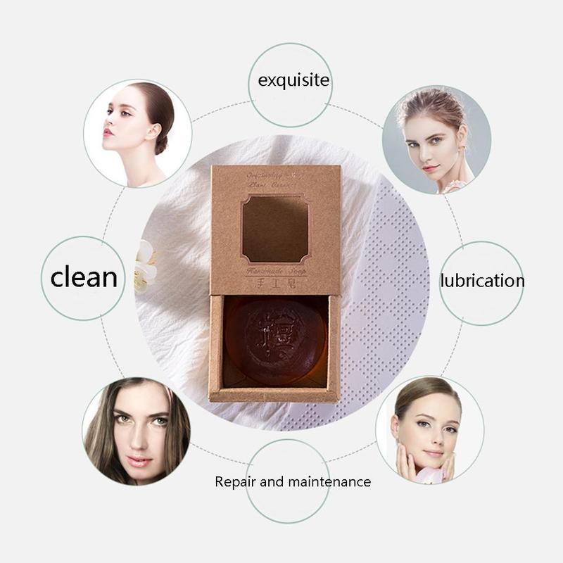 Sandalwood Oil Cleansing Handmade Soap Face Cleanser Oil Control Hand Made Pore Shrinkage Shaving Bath Whitening Soap