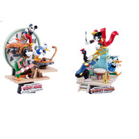 Disney Mickey Classic Animate Clock Cleaner Mickey Mouse Concert Scenes Statue Action Figure Collection Model Toy X4773